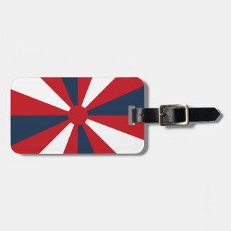 Patriotic Pinwheel Luggage Tag
