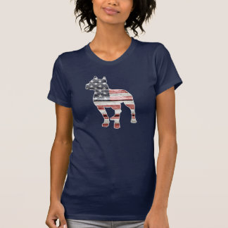 Patriotic Pitbull, American Flag T-Shirt