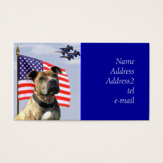 Patriotic Pitbull business card