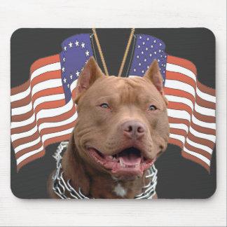 Patriotic Pitbull Mousepad