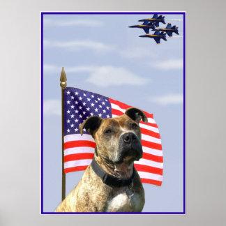 Patriotic pitbull poster