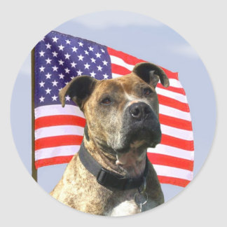Patriotic pitbull stickers