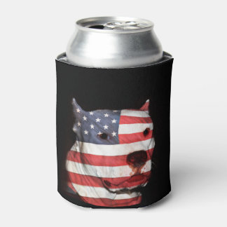 Patriotic pitbull terrier can cooler