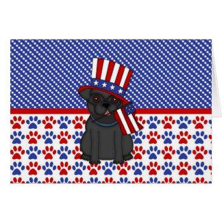 Patriotic Political Black Pug Card (6)