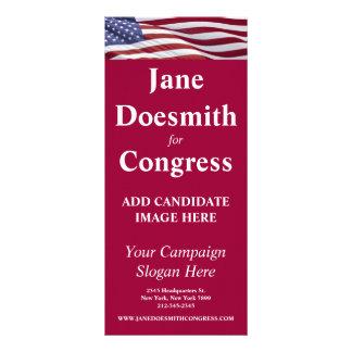 Patriotic Political Campaign Custom Rack Card