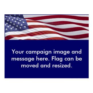 Patriotic Political Campaign Postcard