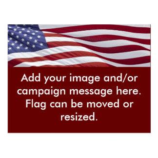 Patriotic Political Campaign Post Card