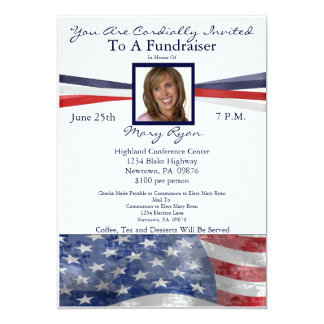 Patriotic Political Fundraiser Invitation w/ Photo