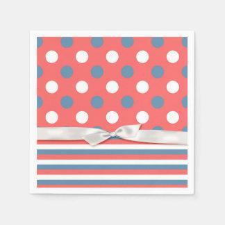 Patriotic Polka Dots Paper Napkins