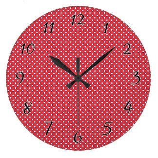 Patriotic Polka Dots Wall Clock