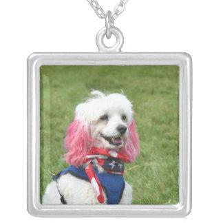 Patriotic Poodle necklace