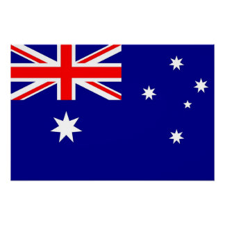 Patriotic poster with Flag of Australia Perfect Poster