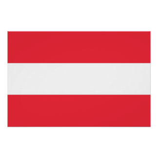 Patriotic poster with Flag of Austria Perfect Poster