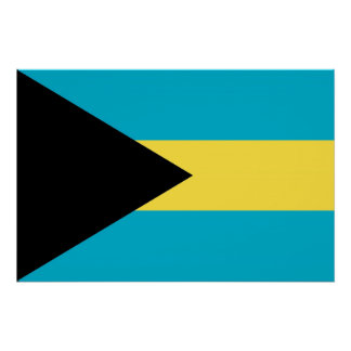 Patriotic poster with Flag of Bahamas Perfect Poster