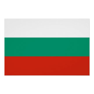Patriotic poster with Flag of Bulgaria Perfect Poster