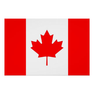 Patriotic poster with Flag of Canada Perfect Poster