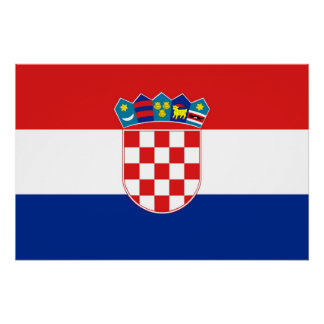 Patriotic poster with Flag of Croatia Perfect Poster
