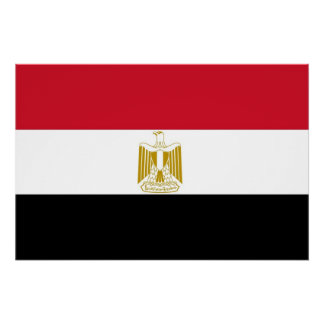 Patriotic poster with Flag of Egypt Perfect Poster