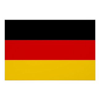 Patriotic poster with Flag of Germany Perfect Poster