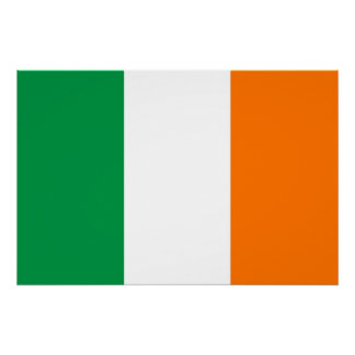 Patriotic poster with Flag of Ireland Perfect Poster