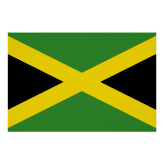 Patriotic poster with Flag of Jamaica Perfect Poster