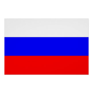 Patriotic poster with Flag of Russia