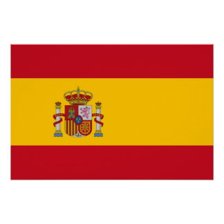 Patriotic poster with Flag of Spain Perfect Poster