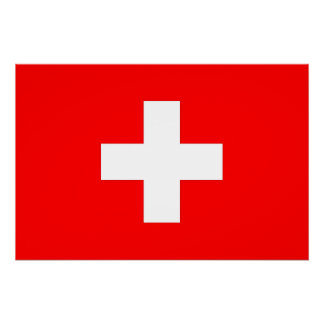 Patriotic poster with Flag of Switzerland Perfect Poster