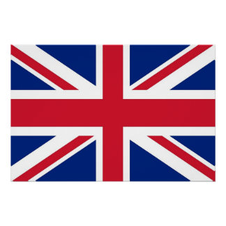 Patriotic poster with Flag of United Kingdom Perfect Poster