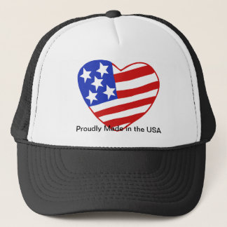 Patriotic pride! Proudly Made in the USA!!! Trucker Hat