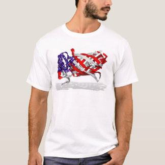 patriotic protein with shadow - biobeautiful T-Shirt