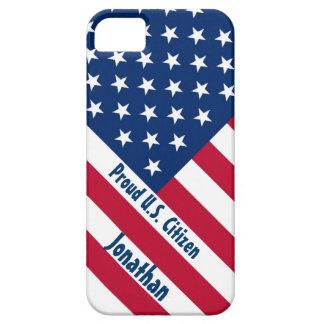 Patriotic Proud U.S. Citizen F504 iPhone 5 Case