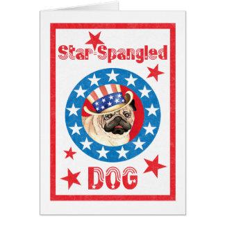 Patriotic Pug Card