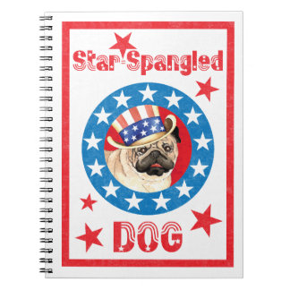 Patriotic Pug Notebook