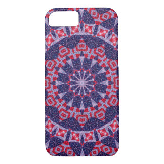 Patriotic Red and Blue Kaleidoscope iPhone 8/7 Case