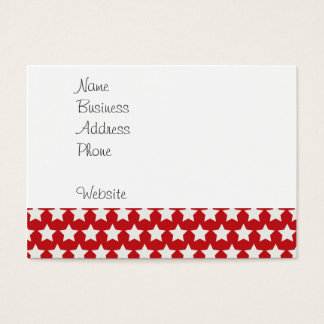 Patriotic Red and White Stars Pattern 4th of July Business Card