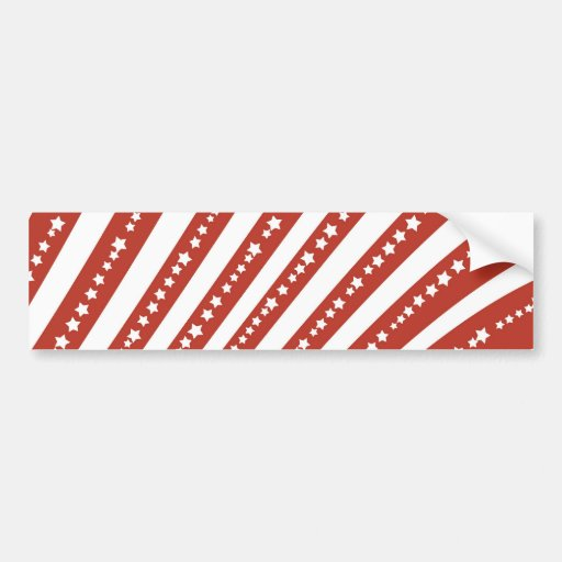 Patriotic Red and White Stars Stripes Freedom Flag Bumper Stickers
