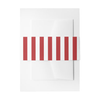 Patriotic Red and White Stripes Invitation Belly Band