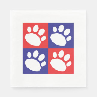 Patriotic Red, Blue, and White Animal Print Paper Napkins