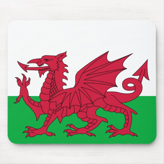 Patriotic Red Dragon Of Wales Mousepad