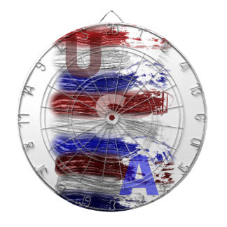 Patriotic Red White and Blue Dartboard