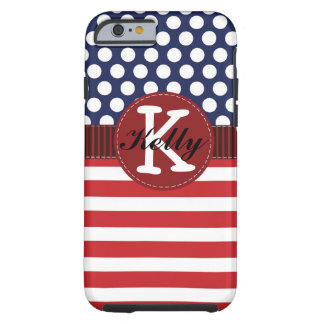 Patriotic Red, White, and Blue iPhone 6 Case