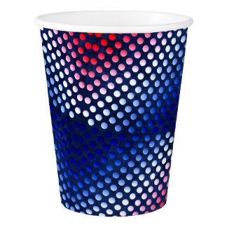 Patriotic, red white and blue pattern paper cups paper cup
