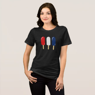 Patriotic Red White and Blue Popsicle T-Shirt