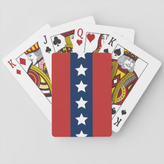 Patriotic Red White and Blue Stars and Stripes Playing Cards