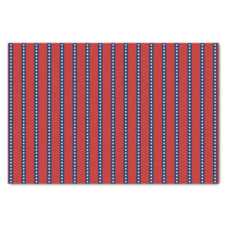 Patriotic Red White and Blue Stars and Stripes Tissue Paper