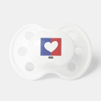 Patriotic Red White And Blue Unity Heart Baby Pacifiers