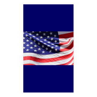 Patriotic Red White and Blue USA American Flag Business Card