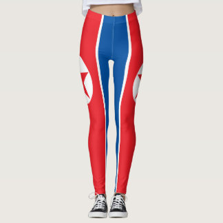 Patriotic Red, White and Blue with Star Leggings