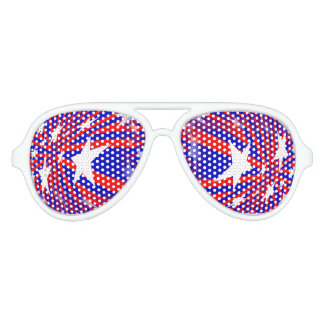 Patriotic Red White Blue Abstract Party Glasses